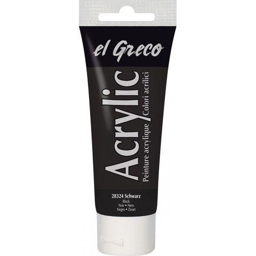 Akrylová barva EL GRECO 75 ml černá