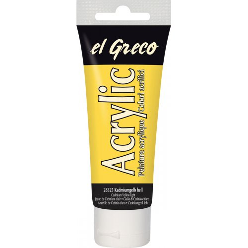 Akrylová barva EL GRECO 75 ml světle kadmium žlutá