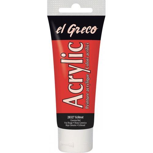 Akrylová barva EL GRECO pravá červená 75 ml