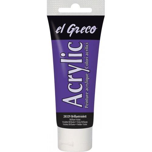 Akrylová barva EL GRECO brilantní fialová 75 ml