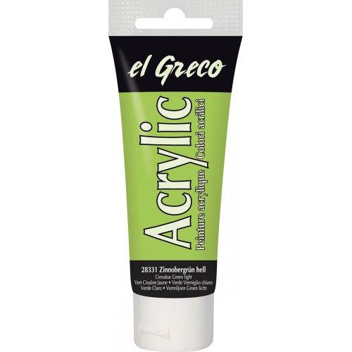 Akrylová barva EL GRECO světlá vermilion zelená 75 ml