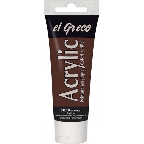 Akrylová barva EL GRECO 75 ml čerstvá okrová