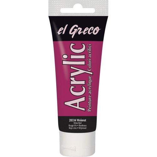 Akrylová barva EL GRECO vínová červená 75 ml