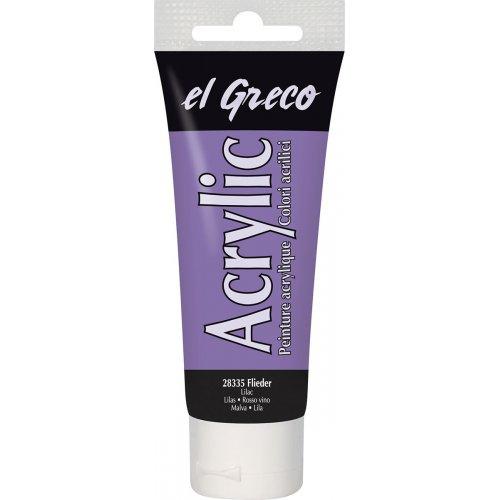 Akrylová barva EL GRECO lila 75 ml