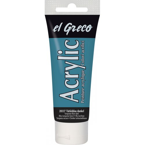 Akrylová barva EL GRECO 75 ml tyrkysová