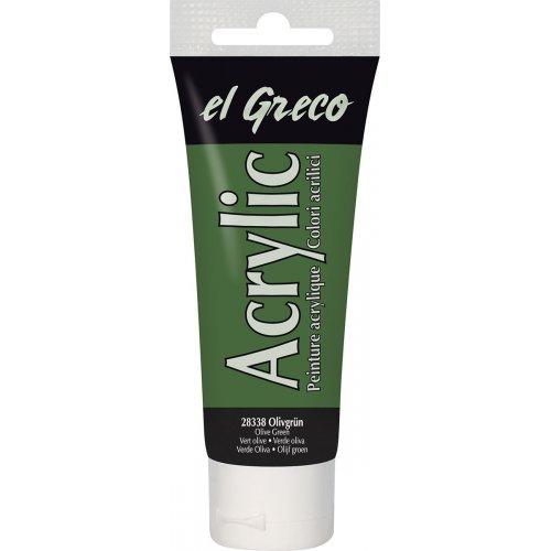 Akrylová barva EL GRECO olivová zelená 75 ml