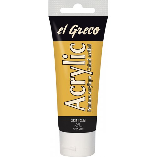 Akrylová barva EL GRECO 75 ml zlatá