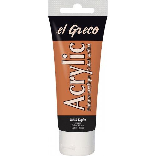 Akrylová barva EL GRECO měděná 75 ml