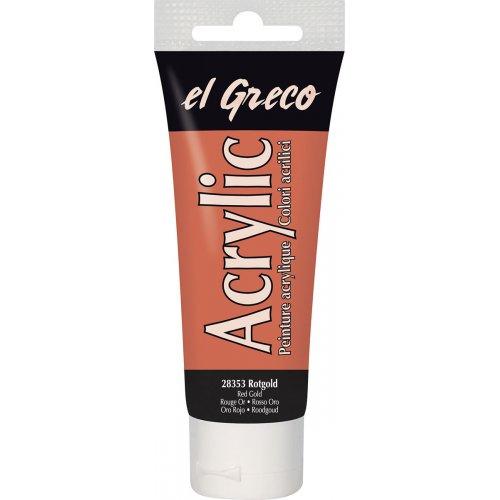 Akrylová barva EL GRECO 75 ml nazrzlá zlatá