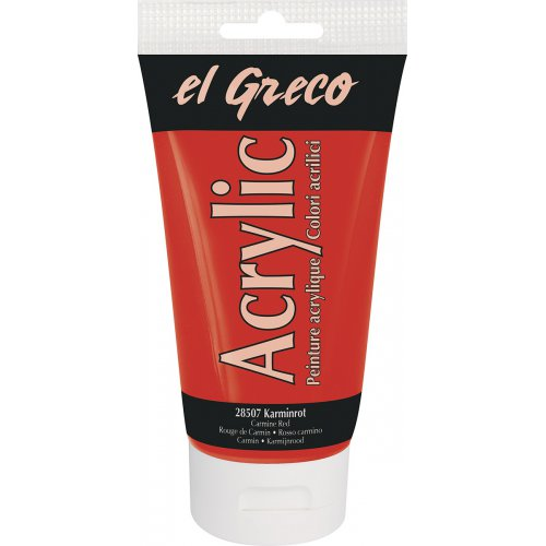 Akrylová barva EL GRECO 150 ml karmínová