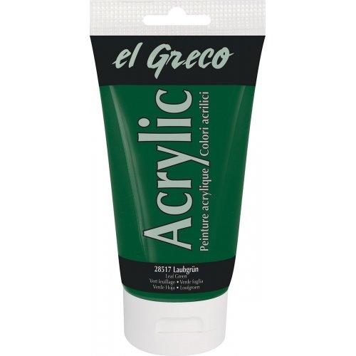 Akrylová barva EL GRECO listová zelená 150 ml