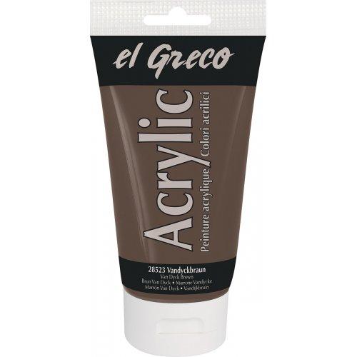 Akrylová barva EL GRECO 150 ml Vandyke hnědá