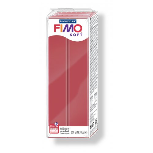 FIMO soft tmavě červená 350 g blok