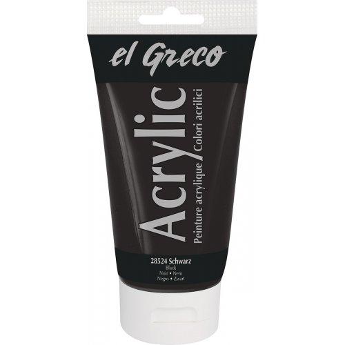 Akrylová barva EL GRECO černá 150 ml