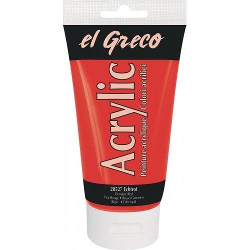 Akrylová barva EL GRECO 150 ml pravá červená