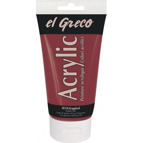 Akrylová barva EL GRECO madder lake 150 ml