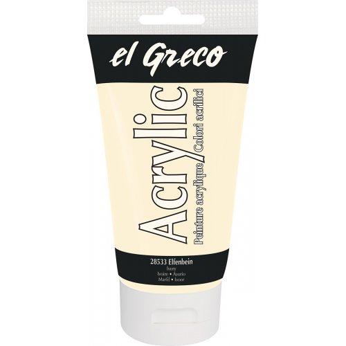 Akrylová barva EL GRECO 150 ml slonovinová