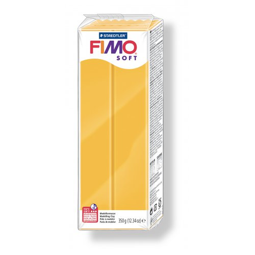 FIMO soft žlutá 350 g blok