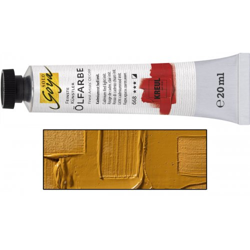 Olejová barva SOLO GOYA světle žlutý okr v tubě 20 ml