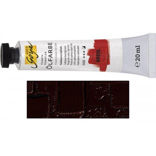 Olejová barva SOLO GOYA burnt umber v tubě 20 ml
