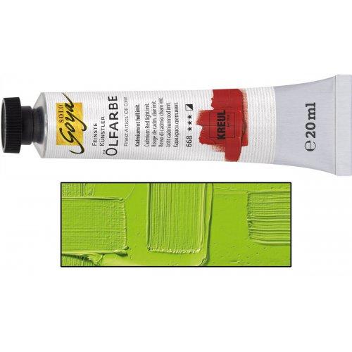 Olejová barva SOLO GOYA cinnabar zelená světlá v tubě 20 ml