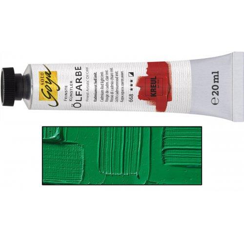 Olejová barva SOLO GOYA permanentní zelená světlá v tubě 20 ml
