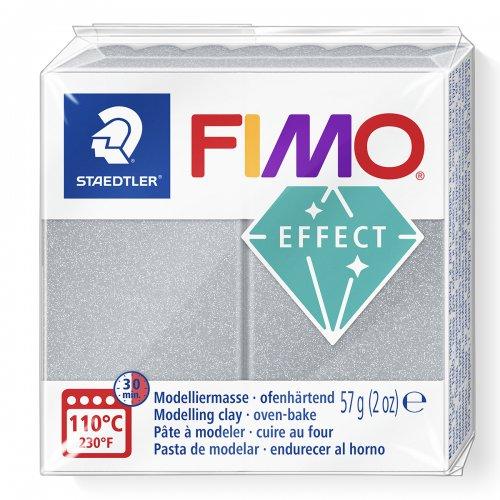 FIMO efekt metalická stříbrná 57g