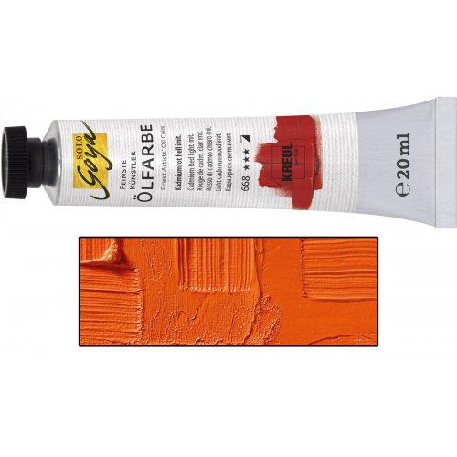 Olejová barva SOLO GOYA kadmium oranžová v tubě 20 ml