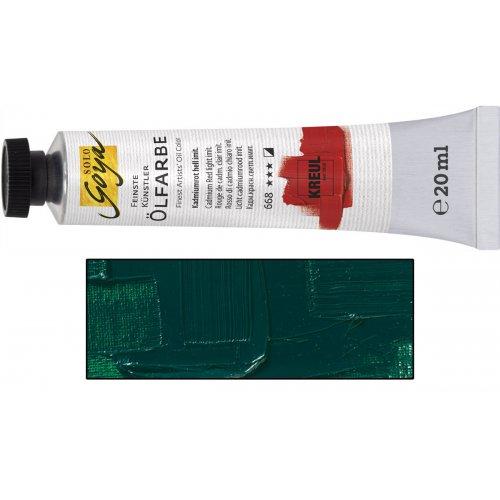 Olejová barva SOLO GOYA viridian zelená v tubě 20 ml