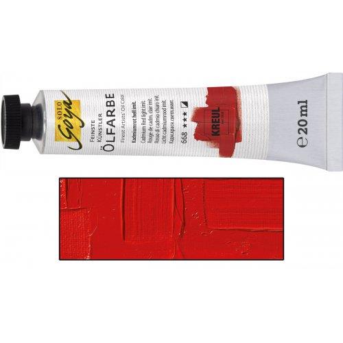 Olejová barva SOLO GOYA kadmium červená světlá v tubě 20 ml