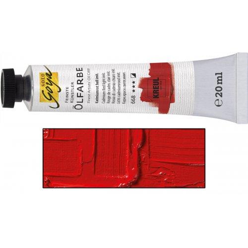 Olejová barva SOLO GOYA kadmium červená tmavá v tubě 20 ml