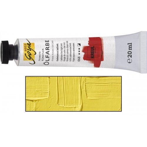 Olejová barva SOLO GOYA kadmium žlutá citron v tubě 20 ml