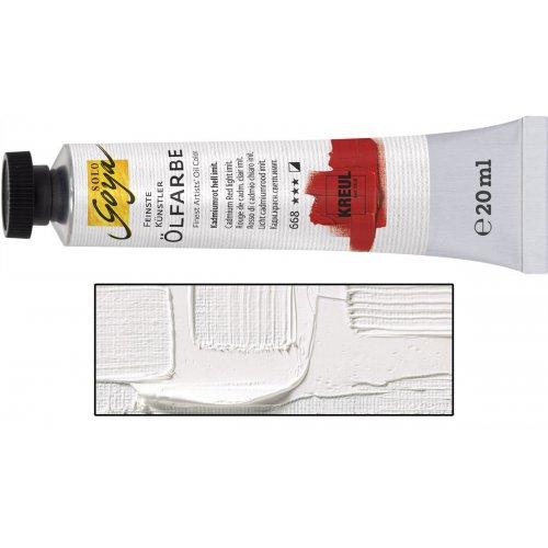 Olejová barva SOLO GOYA titanová bílá v tubě 20 ml