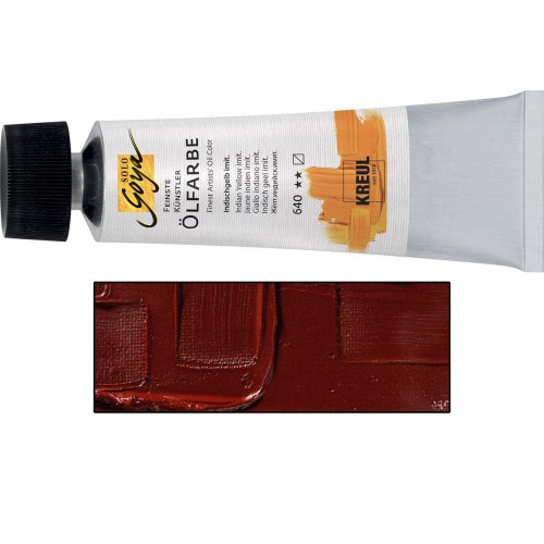 Olejová barva SOLO GOYA burnt sienna v tubě 55 ml