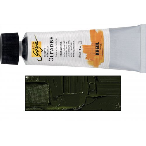 Olejová barva SOLO GOYA zelená země v tubě 55 ml
