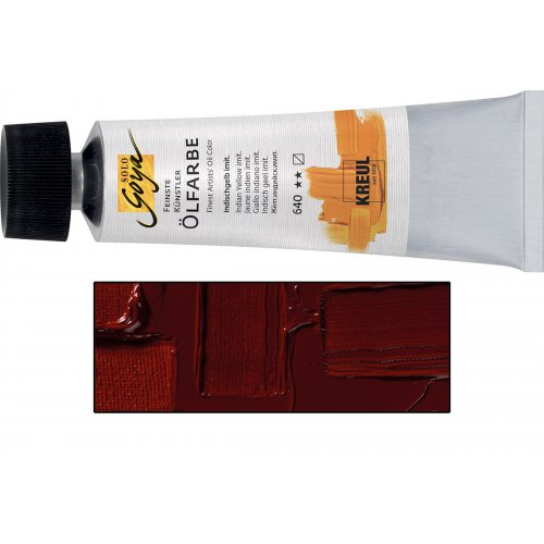 Olejová barva SOLO GOYA madder lake tmavý bílá v tubě 55 ml