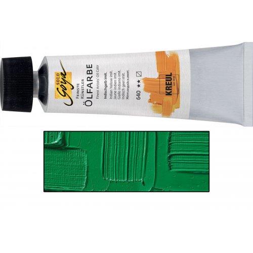 Olejová barva SOLO GOYA permanentní zelená světlá v tubě 55 ml