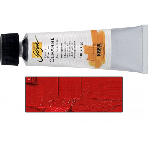Olejová barva SOLO GOYA vermilion červená tmavá v tubě 55 ml