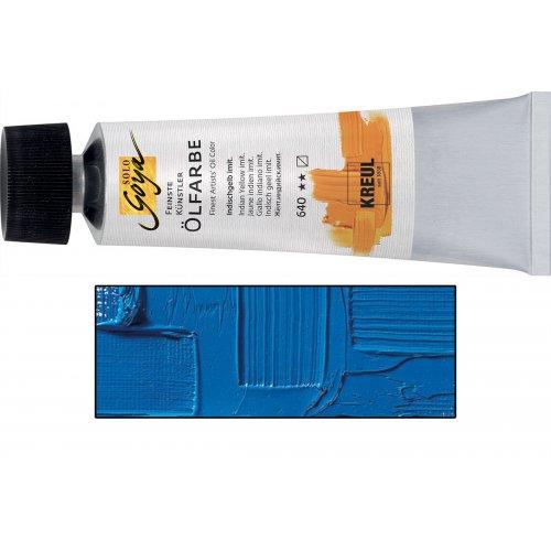 Olejová barva SOLO GOYA cerulean modrá v tubě 55 ml