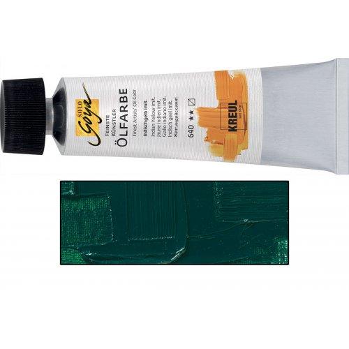 Olejová barva SOLO GOYA viridian zelená v tubě 55 ml