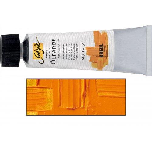 Olejová barva SOLO GOYA indiánská žlutá v tubě 55 ml
