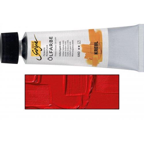 Olejová barva SOLO GOYA pravá červená, světlá v tubě 55 ml