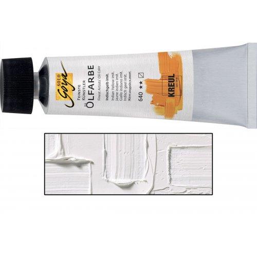 Olejová barva SOLO GOYA bílá zinek v tubě 55 ml