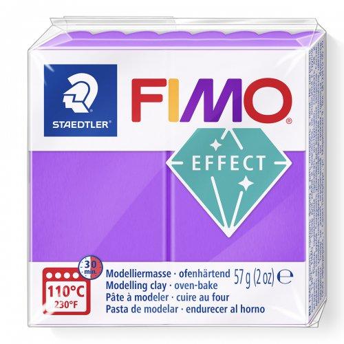 FIMO efekt transparentní fialová 57g