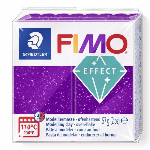 FIMO efekt fialová se třpytkami 57g