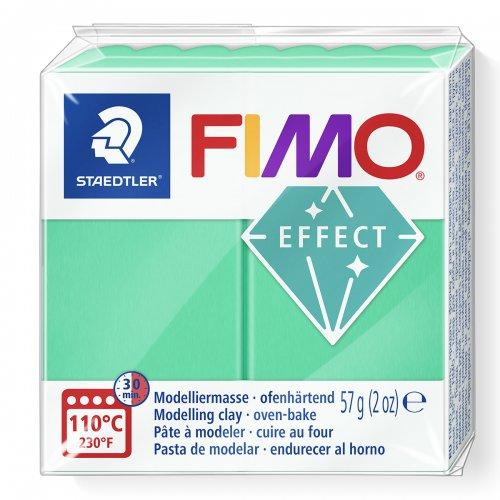 FIMO efekt transparentní zelená 57g