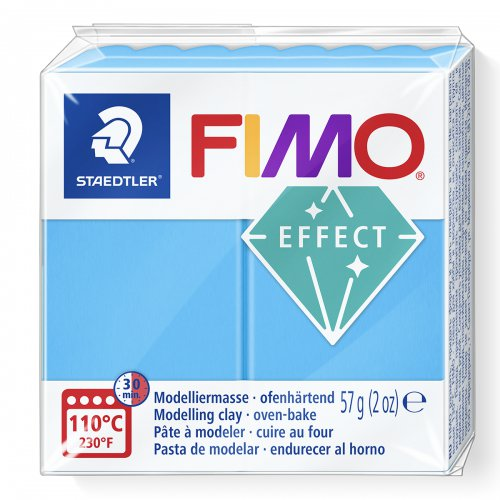 FIMO efekt transparentní modrá 57g