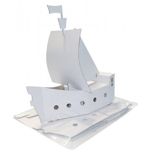 Pirátská loď k pomalování z kartónu