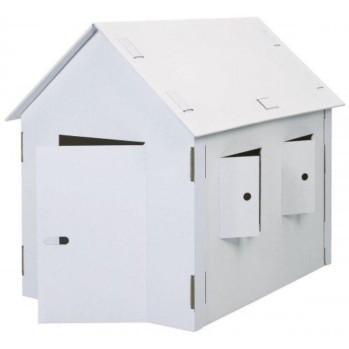 Papírový dům XXL k pomalování z kartónu