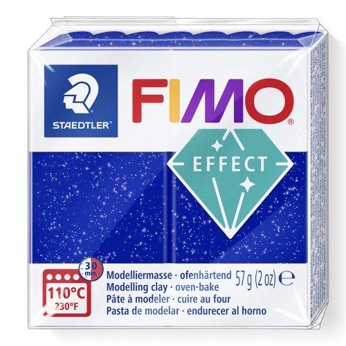 FIMO efekt modrá se třpytkami 57g